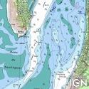 Karte der Atlantikküste - IGN und SHOM