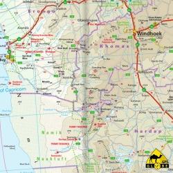 Südliches Afrika - Touristische Karte - 1 : 2 500 000