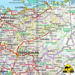 Zentralamerika + Mexiko - Touristische Karte - 1 : 3 000 000