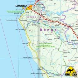 Angola - Touristische Karte - 1 : 1 400 000