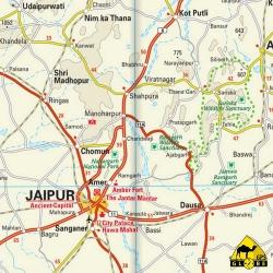 India (Nord-West) - Touristische Karte - 1 : 1 300 000