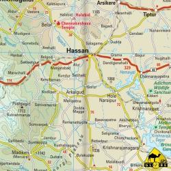 India (Süd) - Touristische Karte - 1 : 1 300 000