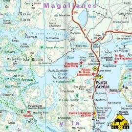 Chile - Touristische Karte - 1 : 1 600 000