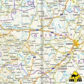 Lettland - Touristische Karte - 1 : 325 000