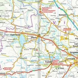 Litauen - Touristische Karte - 1 : 325 000