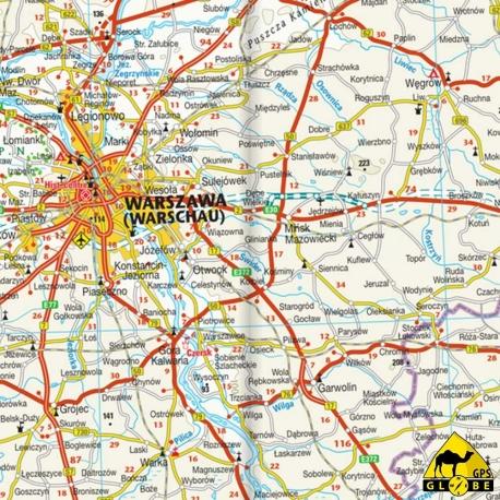 Polen - Touristische Karte - 1 : 675 000