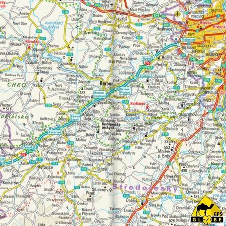 Tschechien - Touristische Karte - 1 : 350 000