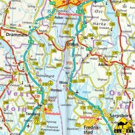 Skandinavien - Touristische Karte - 1 : 875 000