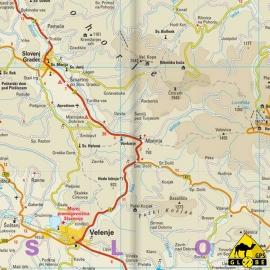 Slowenien - Touristische Karte - 1 : 185 000