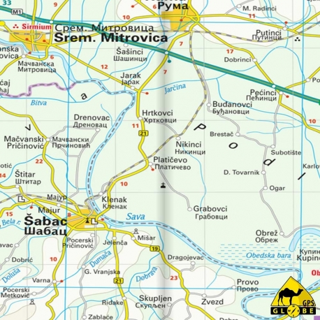 Bosnien-Herzegowina - Touristische Karte - 1 : 350 000