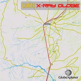 Maroc - X-Ray Globe - 1:100 000 TOPO Relief
